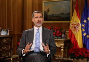 Rey de España insta a evitar enfrentamiento y exclusión