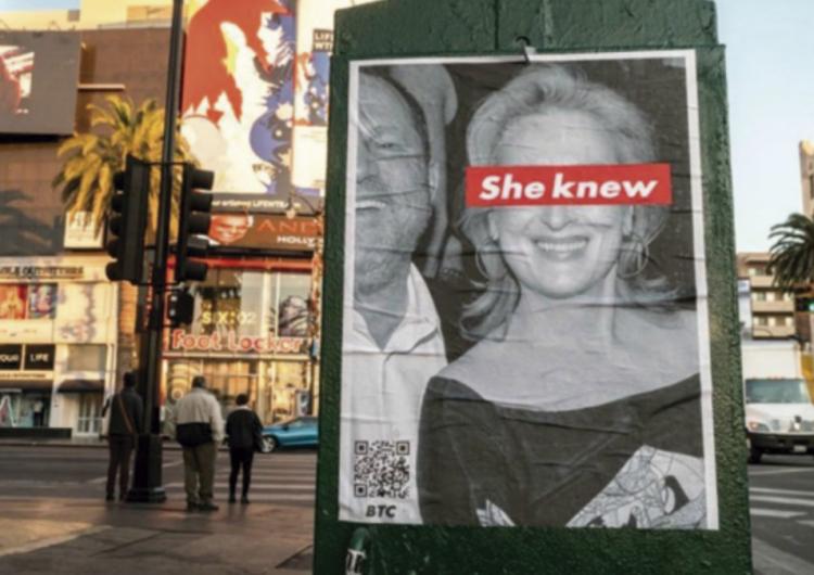 "Caso Weinstein: seguidor de Trump ""acosa"" a Meryl Streep"