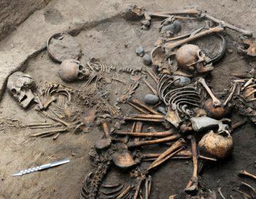 Hallan una espiral formada con huesos humanos de hace 2,400 años en CDMX