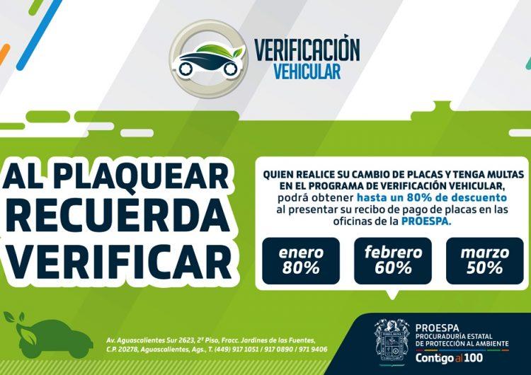 Anuncia Proespa descuentos en verificación vehicular