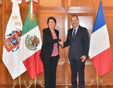 Reconoce embajadora de Francia seguridad y paz en Aguascalientes