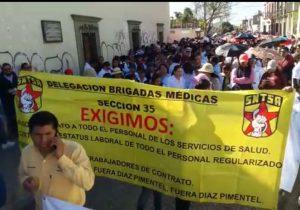 SNTSA Oaxaca exige cabeza de secretario de Salud estatal