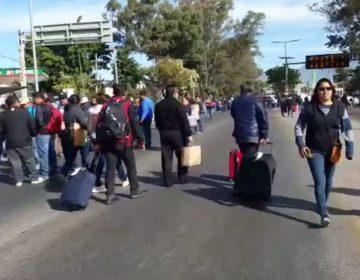 Paro y bloqueos en Oaxaca, cortesía de la Sección 22