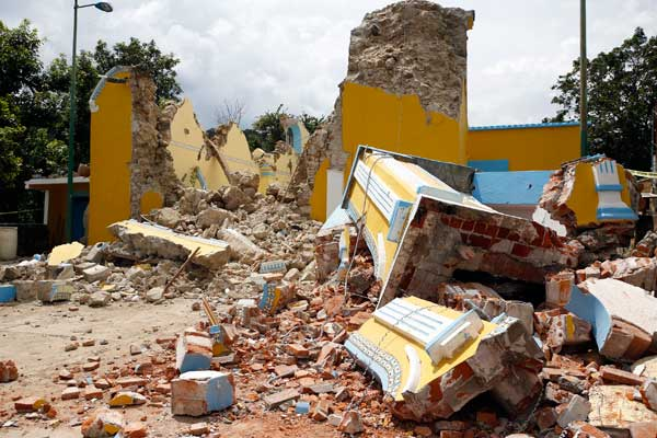 Resultado de imagen para puebla iglesia destruida sismo
