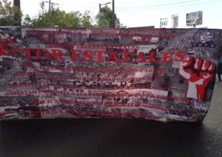 Sindicatos inundan Oaxaca con bloqueos