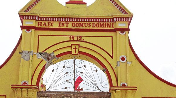 Lluvias podrían dañar templos