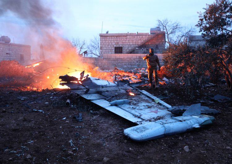 Un grupo de rebeldes sirios derriban un avión ruso y matan al piloto
