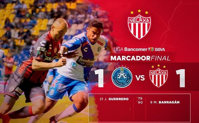Con golazo Necaxa rescata empate en Puebla