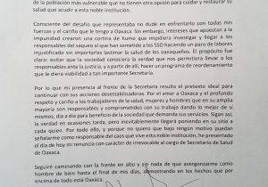 35 cambios en Gabinete en 14 meses, acepta Alejandro Murat renuncia de Juan Díaz Pimentel en la Secretaría de Salud
