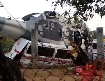 13 personas el saldo al caer helicóptero que realizaría verificaciones por sismo
