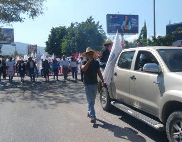 """""""Movimiento Social e Indígena Presidente Juárez"""" marcha  exigiendo respeto en las próximas elecciones y no más aumentos en gasolina y canasta básica"""