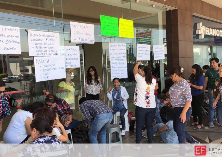Cobao no paga cuotas patronales, denuncian trabajadores y toman oficinas por segundo día consecutivo