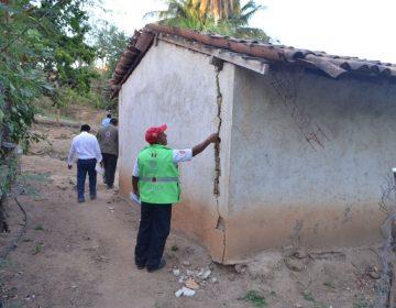 Reporta CEPCO un aproximado de 60 mil personas damnificadas y daños en cuatro mil viviendas por el sismo del 16 de febrero