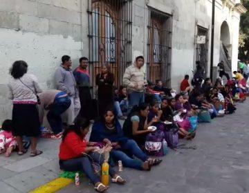 Frente Único en Defensa Indígena toma Palacio de Gobierno de Oaxaca, exigen proyectos de vivienda