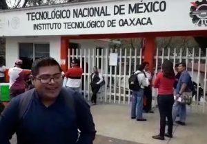 Protesta S-22 en el ITO; exigen la salida del director Juan Cruz Nieto