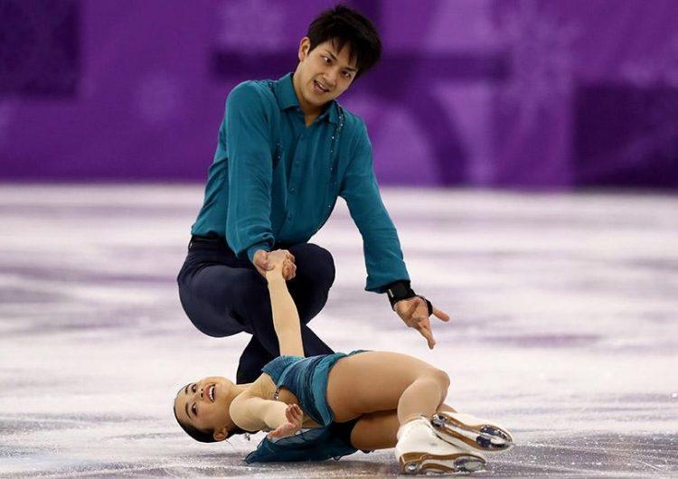 gestos graciosos patinadores