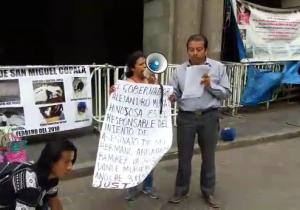 Integrantes de Codedi responsabilizan a gobierno muratista del crimen de tres de sus militantes