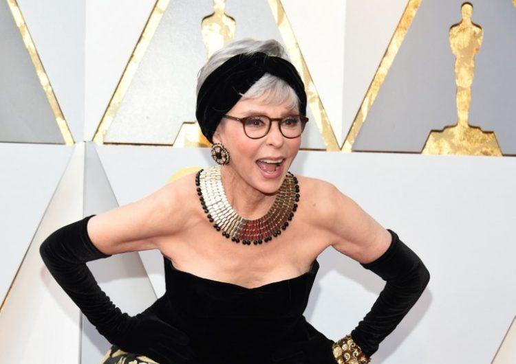 Rita Moreno repite vestido con el que ganó un Óscar… hace 56 años