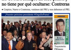 Que la UNAM es priísta y por eso Meade fue portada en la Gaceta, algo que nunca se publicó