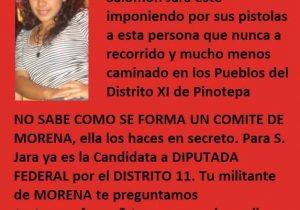Ataques a Carmen Bautista en Pinotepa forman parte de la guerra sucia contra Morena en Oaxaca; exige a autoridades hacer cumplir la ley