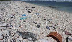 Una isla de basura que flota en el Pacífico que…