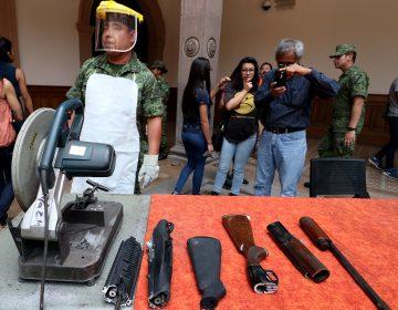 Entrega NL más de 4 mil armas en canje voluntario en los últimos cinco años