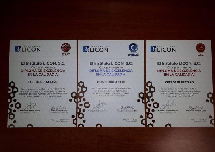 Centro Estatal de Transfusión Sanguínea Querétaro recibe premios de excelencia en identificación de desviaciones, identificación de enfermedades infecciosas y biología molecular