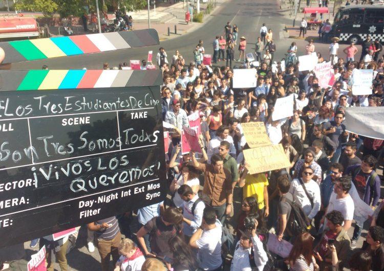 #NoSonTresSomosTodxs, exigen aparición con vida de estudiantes en Jalisco, estado con más de 14 mil desaparecidos