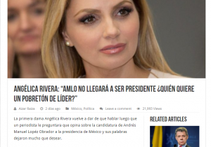 ¿Angélica Rivera llamó 'pobretón' a AMLO?