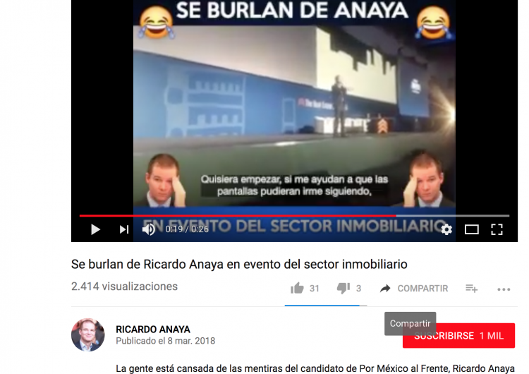 Falso, el video de burlas para Anaya en evento inmobiliario