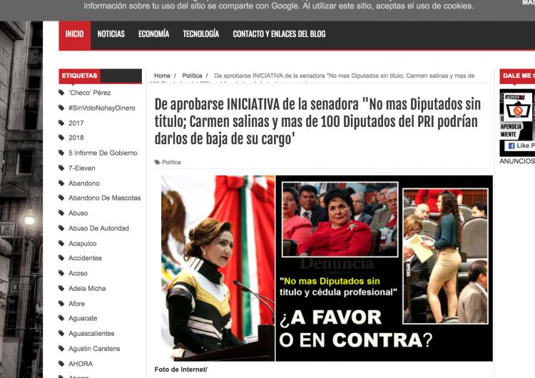 """Carmen Salinas no se quedará sin curul por la iniciativa de ley """"no más diputados sin títulos"""""""