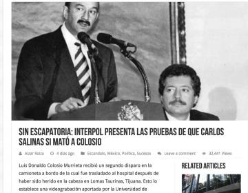 ¿La interpol tiene pruebas de que Salinas mató a Colosio?