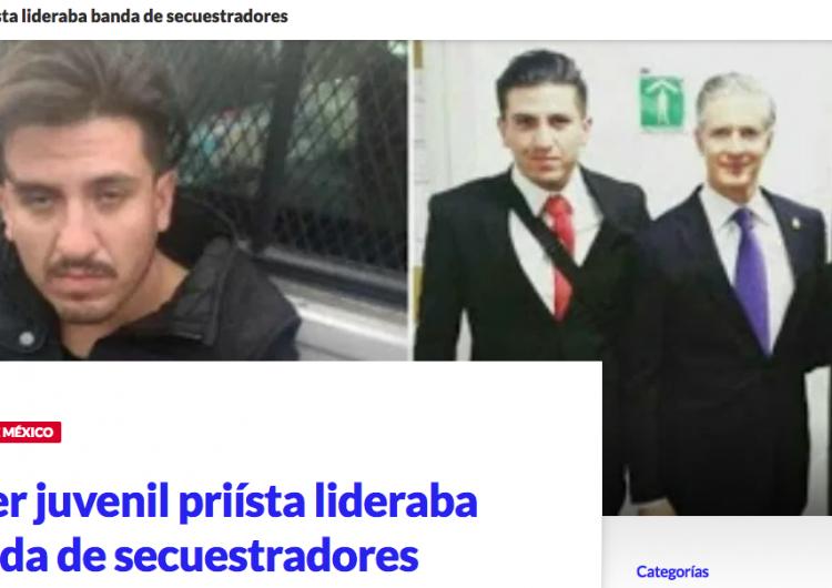 ¿Detuvieron a líder juvenil del PRI por secuestro?