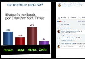 Falsa, la encuesta del NYT que da ventaja a Meade