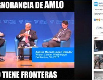 """El video """"la ignorancia de AMLO"""" que circula en redes sociales está manipulado"""