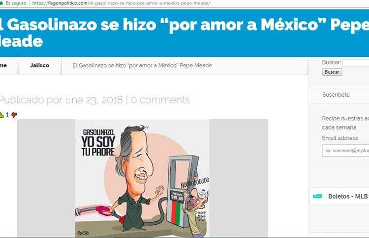 """""""El gasolinazo se hizo por amor a México"""" es una frase que Meade nunca dijo"""