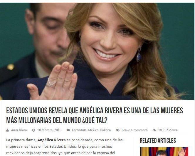 b2b4f0a77d96 Forbes no publicó que Angélica Rivera es de las mujeres más ricas ...