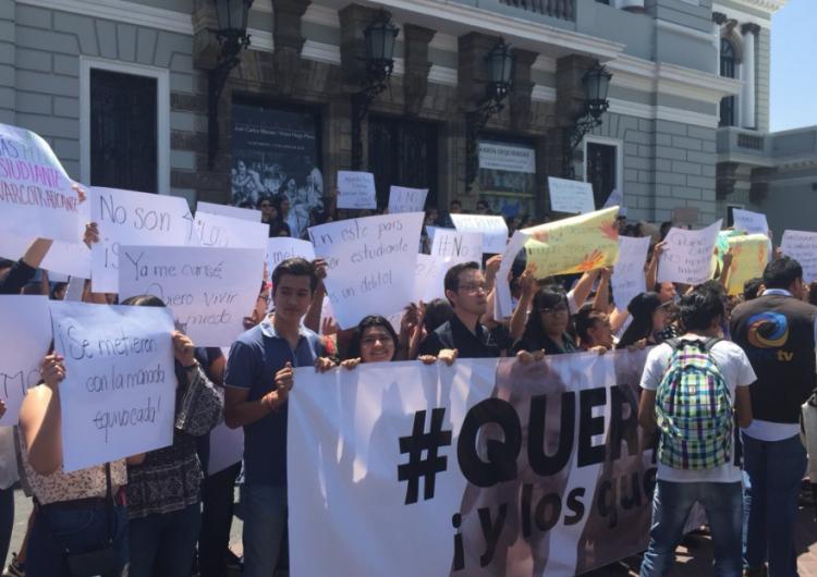 #QueremosPaz, no más jóvenes desaparecidos, exigen estudiantes en paro de protesta en Jalisco