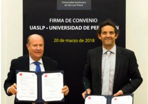 La UASLP firma convenio con la Université de Perpignan Via Domitia