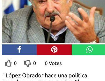 José Mujica nunca dio su opinión sobre López Obrador, frase que le atribuyen es falsa