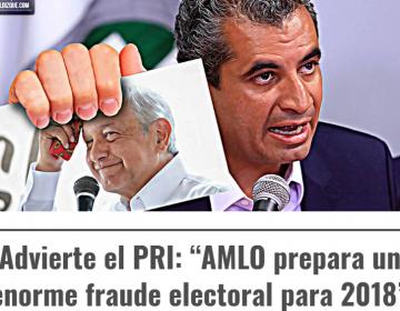 Según el PRI, ¿AMLO los ayudará a ganar la presidencia para después salir a protestar a las calles?; esto es falso