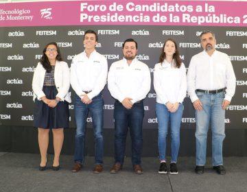 Estudiantes convocan a presidenciables a dialogar en el Tec de Monterrey en NL