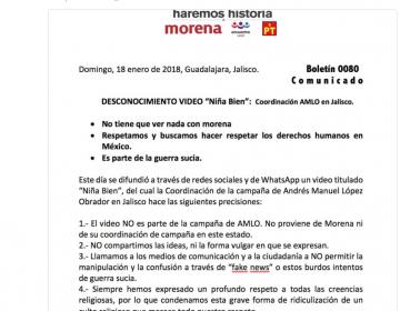 """Coordinación de campaña de AMLO en Jalisco se deslinda del polémico video de """"la Niña bien"""""""