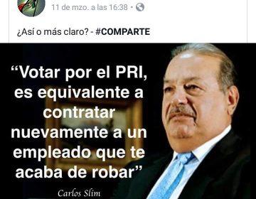 ¿Carlos Slim comparó al PRI con un empleado que roba?