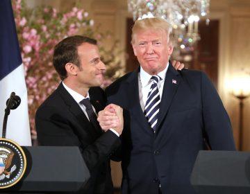 Besos, guerra comercial e Irán: Los asuntos que acercan y separan a Macron y Trump