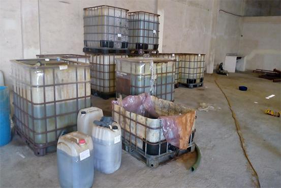 Incautan en NL más de 12 mil litros de sustancias para producir metanfetaminas y diluir cuerpos