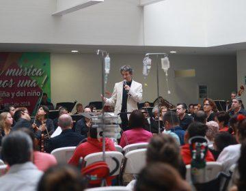 Festeja Gobierno con concierto de la OSA a niños con cáncer