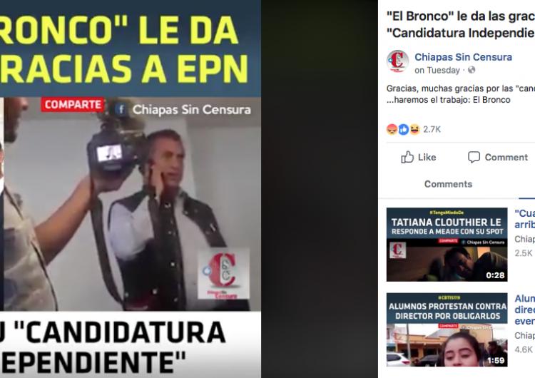 El Bronco agradeció su candidatura independiente a Peña Nieto, pero…