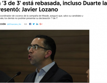 Javier Duarte presentó su 3 de 3 pero el IMCO nunca la aceptó porque existían acusaciones de corrupción