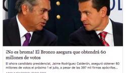 ¿El Bronco presumió que conseguirá 60 millones de votos? No,…